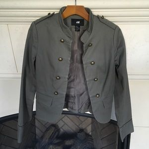 H&M Olive Military Jacket